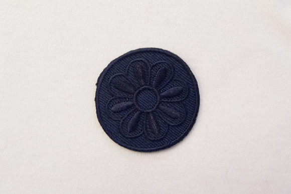 Navy round patch 4cm