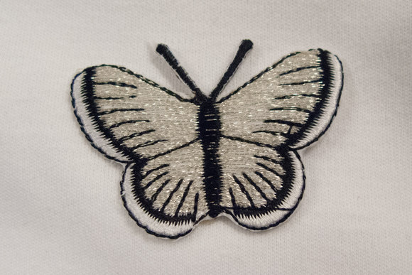 Butterfly in white and black, 3x5cm