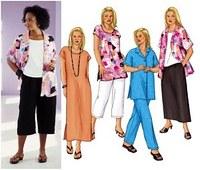 Petite Shirt, Top, Tunic, Dress, Skirt And Pants. Butterick 3039.
