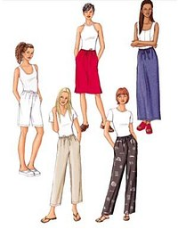 Petite Skirt, Shorts and Pants. Butterick 3460.