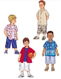 Shirt and Shorts for children. Butterick 3475.
