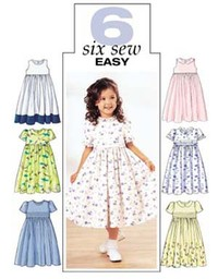 Dress for girls. Butterick 3762.