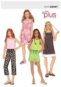 Plus Top, Dress, Shorts and Pants. Butterick 3860.