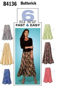 Petite Skirt. Butterick 4136.