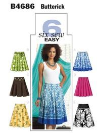 Skirt. Butterick 4686.