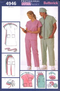 Top and Dress, Belt, Skirt and Pants, Hat and Ponytail Holder. Butterick 4946.