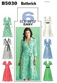 Dress, Belt And Sash. Butterick 5030.