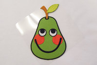 Big green pear patch 7 x 10 cm