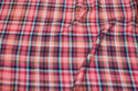 Blouse-viscose in pink checks