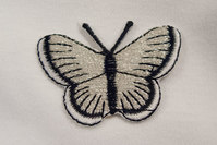 Butterfly in white and black, 3 x 5 cm