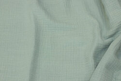 Double woven cotton (gauze) in light almon green