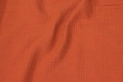 Double woven cotton (gauze) in marsala-colored