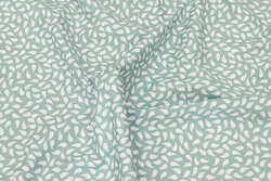Dusty-green cotton with ca. 15 mm white pattern