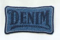 Embroidered denim patch 8 x 4 cm