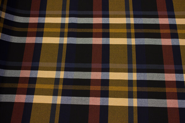 Fashion checks with stretch in black, navy, brass, rust for skirts etc.