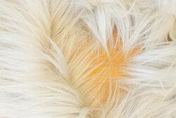 Faux fake fur piece in delicate light grey ca. 20 x 150 cm