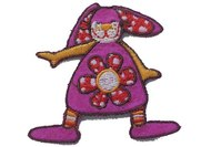 Funny bunny pink patch 5 x 5 cm