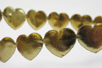 Gold hearts ribbon 1.6 cm