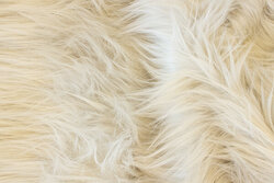 Long-haired, faux fur in delicate light grey