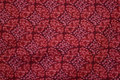 Patchwork-cotton with fint pattern in rasberry colors