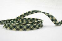 Pipping ribbon, green squares 1 cm