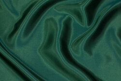 Polyester satin in bottle-green