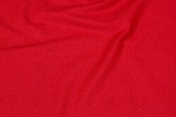 Red, firm cotton with lighter micro-dot