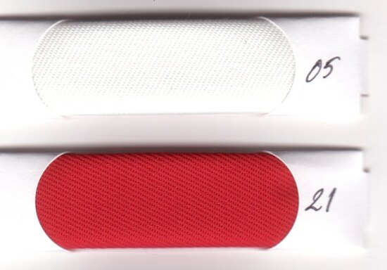 Rugged nylon in red and white