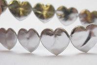 Silver hearts ribbon 1.6 cm