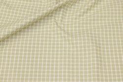 Soft cotton in ca. 12 mm light green checks