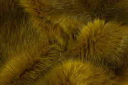 Supersoft, faux fur in light olive-colored