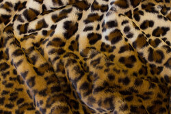 Supersoft, faux leopard fur